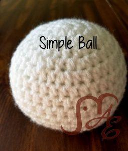 White crochet ball