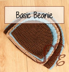 Crochet beanies stacked in several sizes