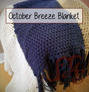 Draped crochet blanket