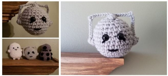 Crochet Mini Cyberman