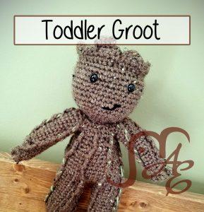Brown crochet groot plush