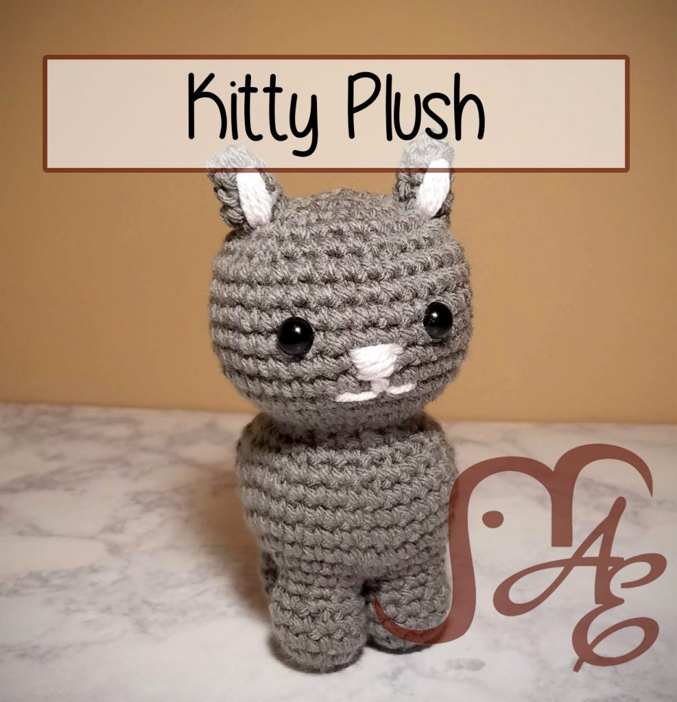Grey crochet kitty plush