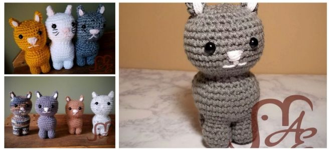 Crochet kitty plushes in many colors