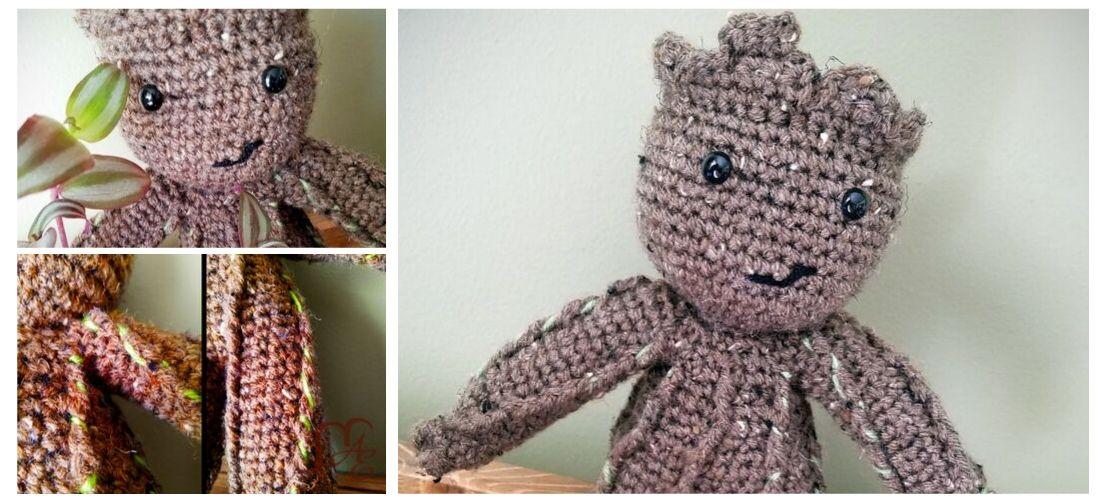 Baby Groot Medium – Handmade Crochet Amigurumi – Beejui Creations | 500x1100