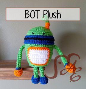 Crochet plush robot