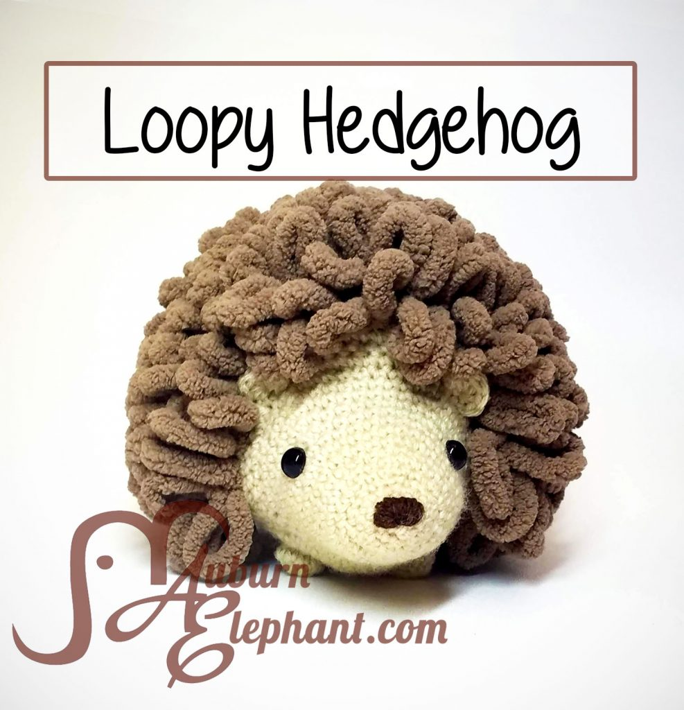 Crochet Hedgehog with brown loops